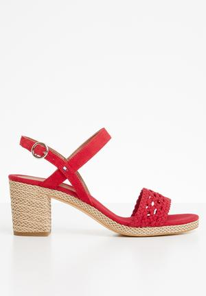 aaee46cc12a By Tommy Hilfiger R1549. Add to wishlist. Woven detail heels - red