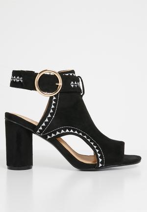 3247cfe261d Ankle strap heels - black