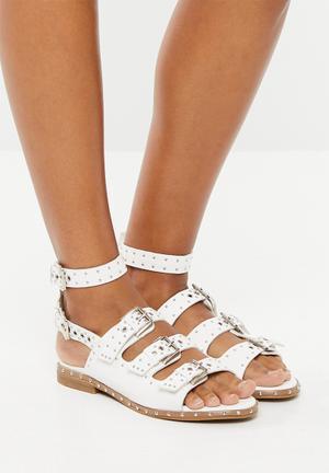 c83fff7f8 Strappy studded sandal - white