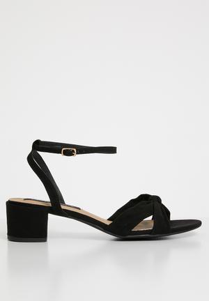 2f803594a46 Seattle ankle strap heels - black. LOW STOCK