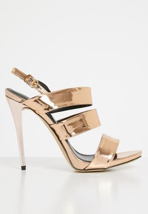 b98d8fe03c60 Metallic slingback heels - rose gold