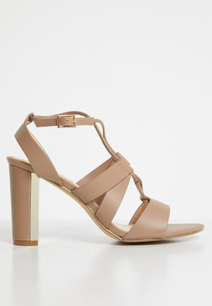 447a4231b254 Strappy heels - beige. ON OFFER