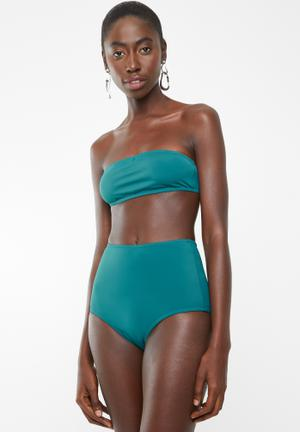 0442f3046f High waisted bikini bottom - green