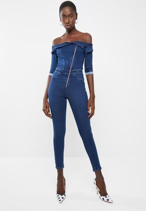 cad3bf9c442 Denim Jumpsuits   Playsuits for Women