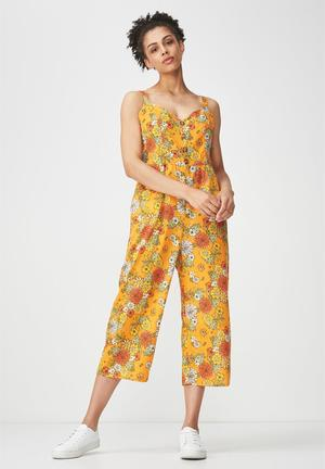 e73541f6bf5 Woven toni strappy jumpsuit - orange