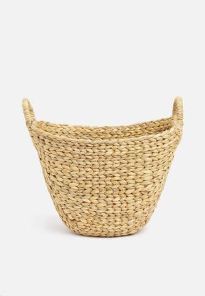 Water hyacinth basket small - neutral