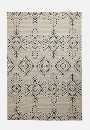 Aztec cottage rug - blue