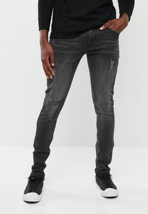 6e382e7f5d Skinny jeans with released hem - black