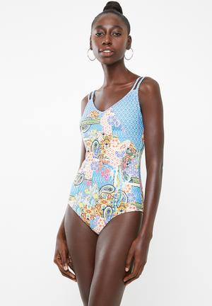 8ecd259d51 Twin strap swimsuit - multi. LOW STOCK