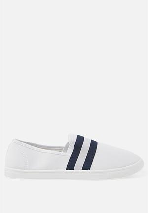 75aa4ea2412c Harlow slip on - white   navy stripe