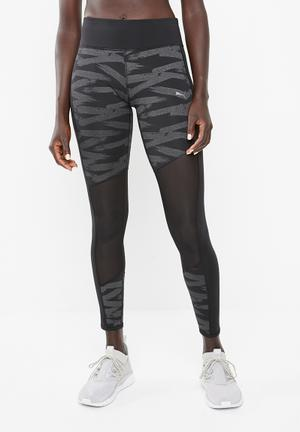 Always on graphic 7/8 tights - black & grey