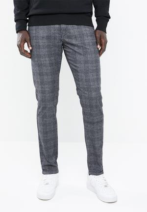 472b0cf4060 Marco Charles check pants - grey