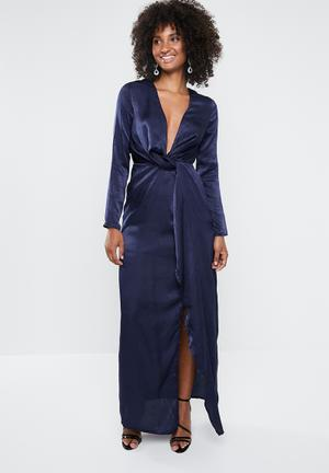Wrap front maxi dress - navy ae7645c1d584