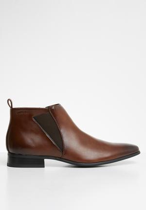 Fancy gusset boot - brown