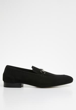 John suede loafer - black