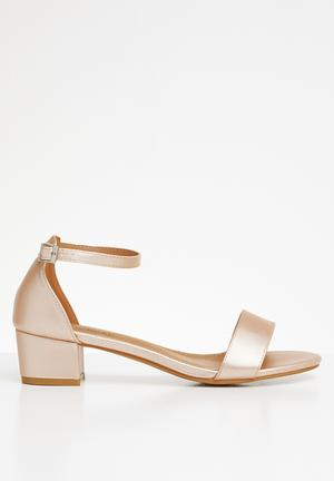 6f5b140f36fe Ankle strap open toe heels - rose gold