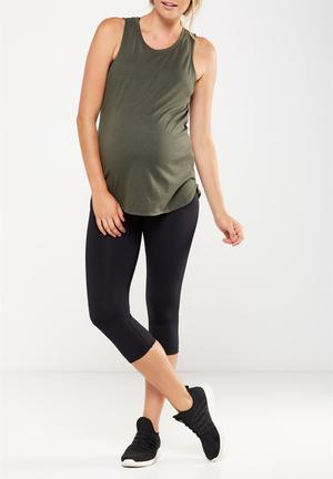 3f097f871c4 Maternity core capri over belly tight - black