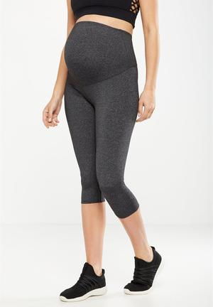 89a130b303a98 By Cotton On R249 · Maternity core capri over belly tight - grey