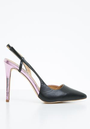 a425c7b4be73 Slingback court heels - black