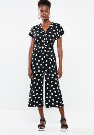 b22dc1a189c Maisy spot peggy jumpsuit - black