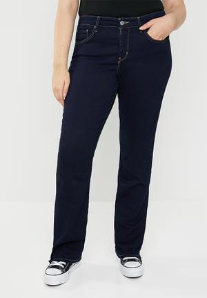 0bf519cc8dc 315 Longer length shaping bootleg jeans - blue