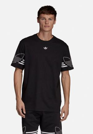 37111bbe8f3f Outline short sleeve crew tee - black   white