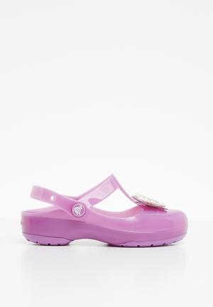 4d997f75390c Kids crocs isabella charm clog k - purple
