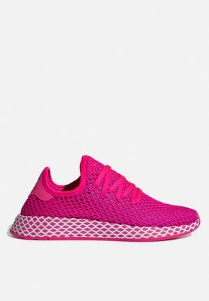 detailed look 42a01 1ffe1 By adidas Originals R1499 · Deerupt Runner W - shock pinkvivid pinkwhite