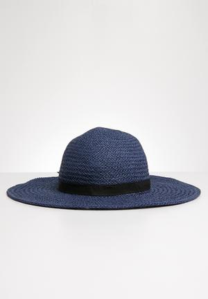 c5e843af9ae Bow detail straw hat - navy