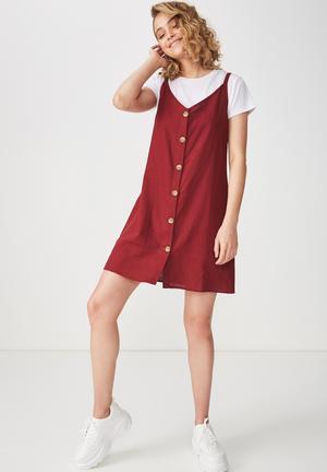 a553005c4a54 Woven Margot slip dress - burgundy
