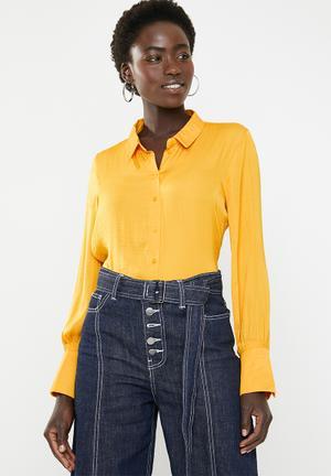 Sandra long sleeve shirt - yellow e70d0b511