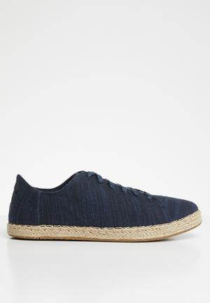 6d17ae1def96 Slubby cotton Lena espadrille sneakers - navy