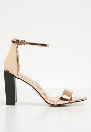 0863efd067b Feature block heel barely there sandal - rose gold