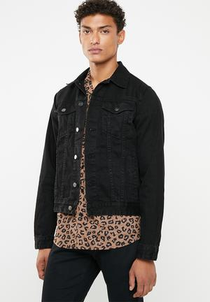 c9999f4be074c Denim trucker jacket - black