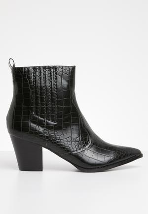 Winona cowboy boot - black