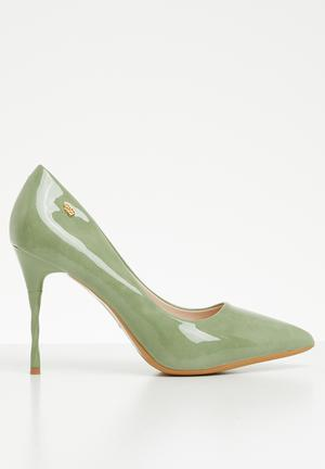 0cb2b2aa6322 Slip on stiletto heel - green