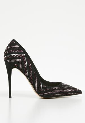 8b7caa61056 Lardonna embellished stiletto heel - black