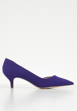 b73f9a7fcd5 Kitten heel - purple. 3 options