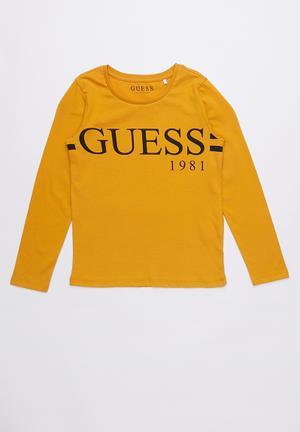 b792857fa4130 Long sleeve classic varsity tee - mustard