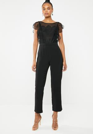 e4365f7846 Seville lace blocking jumpsuit - black