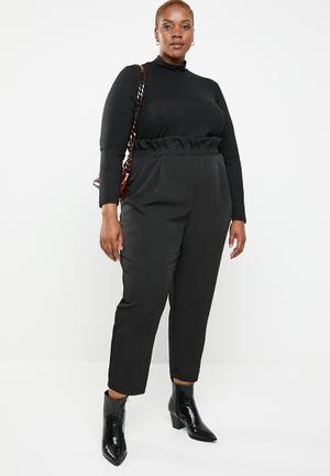 Paperbag waist pant - black 42d57ef29d10