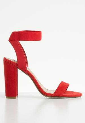 b775541ac327 Discount. Ankle strap heel - red