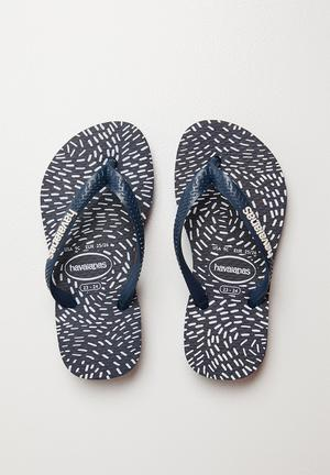 b46071456921 Constelation slim fashion flip flops - navy