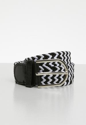 a214a221a8a228 Len webbing belt - black   white