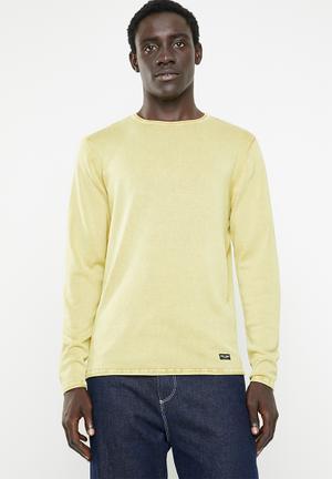 cd04be6b0 Garson wash crew neck knit top - yellow