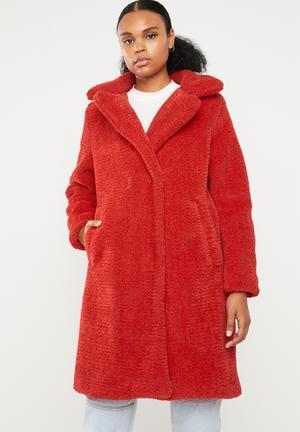 Lala 3/4 jacket - red