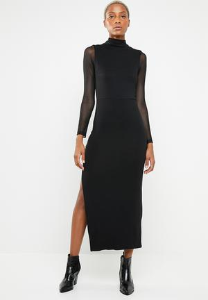 b79b6cbdadbe Discount. Maxi bodycon dress - black