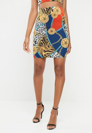 e5b0241e8f5 Own it printed skirt - multi