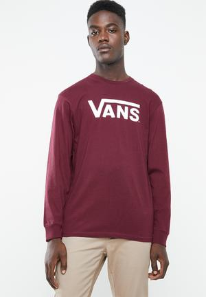 0365f74f6c9 Vans classic long sleeve tee - burgundy   white