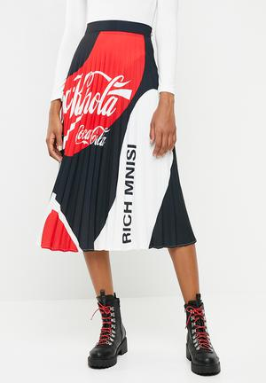 64e30ad7be Coke Thred X rich mnisi pleated maxi skirt - multi
